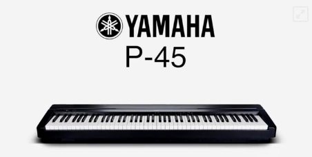 yamaha p 45b digital piano im test. Black Bedroom Furniture Sets. Home Design Ideas