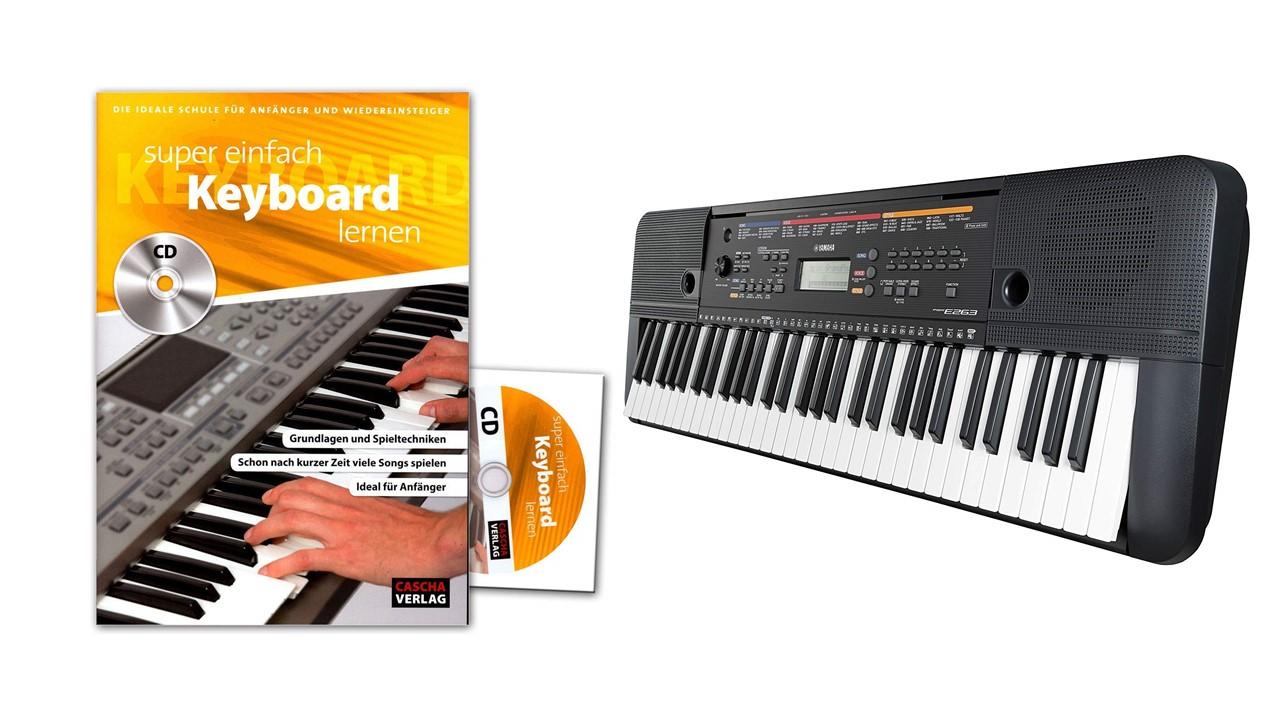 Yamaha Keyboard PSRE263 Paket