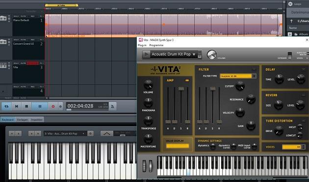 MIDI Keyboard Anwendung