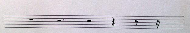 Pausenwerte Klavier