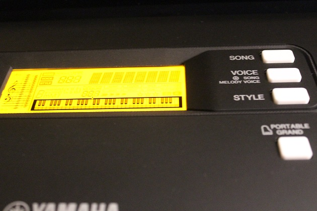 beleuchtetes Display PSR-E363